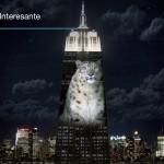 El Empire State Building iluminado con animales en peligro de extinción